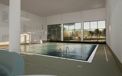 Bygget av Kristianstads badrike pågår fram till sommaren 2022.