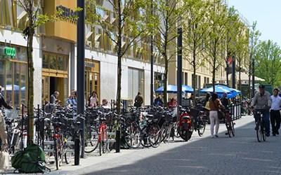 Kommunen är väghållare för gågatorna i centrala Kristianstad.