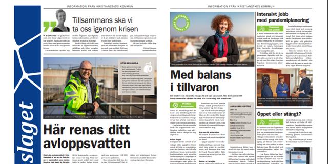 Uppslaget från Kristianstads kommun kommer varje månad i Kristianstadsbladet. Här kan du läsa månadens uppslag om du missade det.