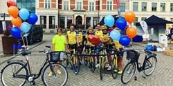 Cyklister på Stora torg