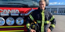 Tomas Andersson har varit deltidsbrandman i över 20 år.