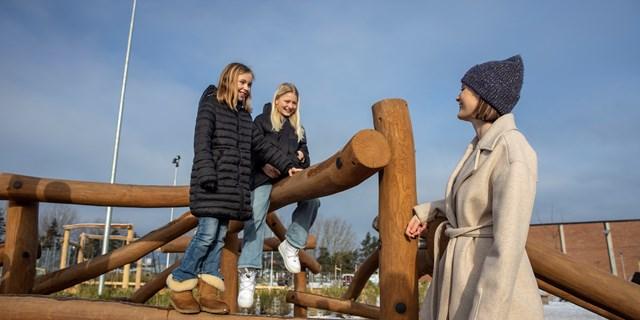 Mathilda Jönsson är inne på sitt andra år i den arbetsintegrerade grundlärarutbildningen 4-6. Foto: Högskolan Kristianstad