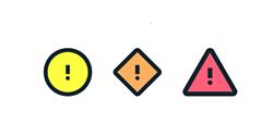Tre symboler visas.