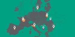 Karta över deltagande länder.