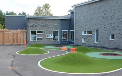 Den nybyggda delen av Diamantens förskola.