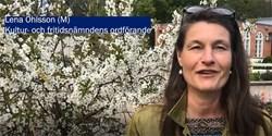Ordförande i kultur- och fritidsnämnden, Lena Ohlsson (M), hälsar våren välkommen