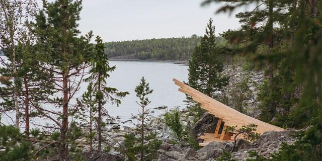 Bild på arkitektritat vindskydd