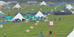 Tält och scouter
