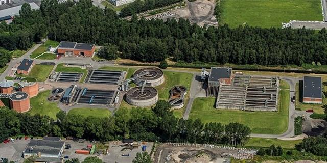 Kristianstads centrala reningsverk hanterar merparten av allt avlopp i kommunen.