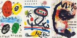 Tre affischer av Joan Miró