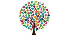 Trädet med pusselbitarna är en symbol för webbplatsen En bra plats, där alla som är anhöriga till någon som har stöd från omsorgsförvaltningen i Kristianstads kommun kan logga in sig för att få information, tips och möjlighet att få kontakt med andra i samma situation.
