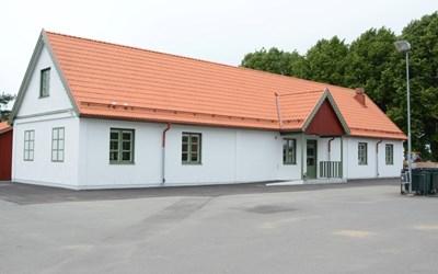 2016 byggdes denna byggnad på skolan.