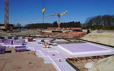 Byggarbetsplats. Foto Kristianstads kommun