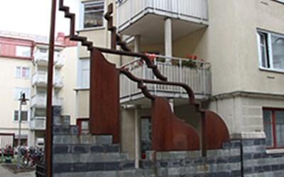 Metamorfos över Kristianstads siluett av Lars Ekholm