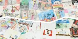 Teckningar från de vinnande klasserna