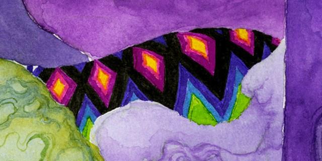 Detaljbild från bokbussens konstnärliga gestaltning av konstnären Danilo Stankovic.