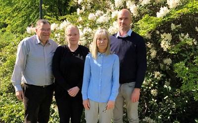 Personliga ombud i Kristianstad. Från vänster: Stefan Bergklint, Erica Berglund, Ethel Lundström och Ola Golderyd.