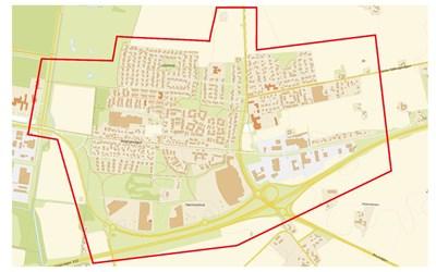 Bild över undersökningsområdet i Hammar
