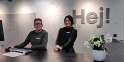 På bilden finns Henrik Strand vd, Jeanette Wilson uthyrningschef och Christian Andersson kundcenterchef