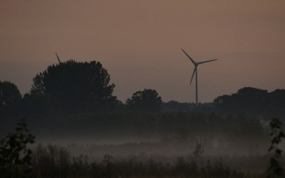 Ungefär 30 procentav elen som förbrukas i kommunen kommer från närproducerad vindkraft.