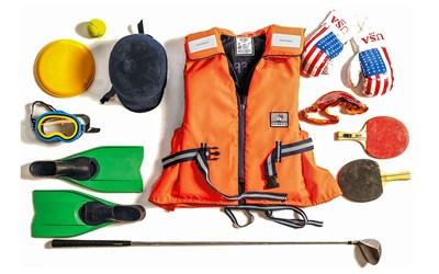 Exempel på sport- och friluftsutrustning du kan skänka till Fritidsbanken