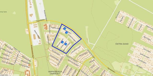 Fyra nya kvarter med blandad bebyggelse planeras att stå klara i slutet av 2022.