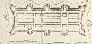 Äldsta stadsplanen över Kristianstad 1614