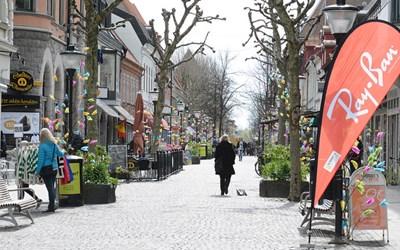 Kristianstads centrum är vackert under påsken