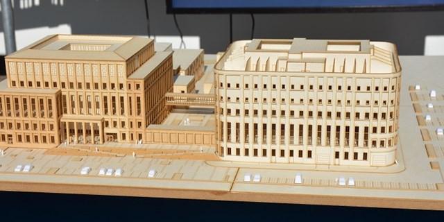 Modell av nya rättscentrum