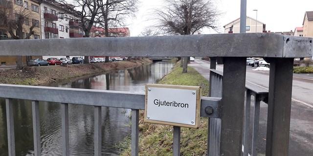 Gjuterinbron på Söder, en av sex broar som skyltats upp
