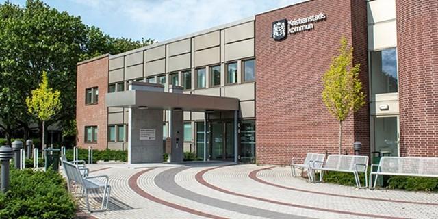 Bild på Östra kommunhuset i Kristianstad
