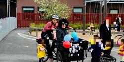 Berga förskolas glasscykel.