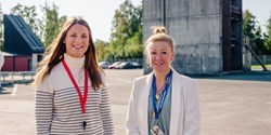 Iréne Sjöklint och Linda Perminger som arbetar med skydd och säkerhet i vår kommun