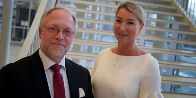 Från The Absolut Cmpany fanns Kenneth Hofström och Maria Berés på plats för att ta emot arkitekturpriset.