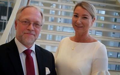 Från The Absolut Company fanns Kenneth Hofström och Maria Béres på plats för att ta emot arkitekturpriset.