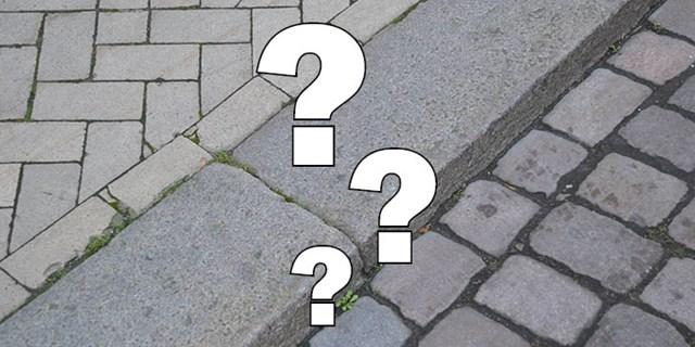 Det finns många olika typer av stensättningar i Kristianstad, men vad kallas de och varför så mycket gult?