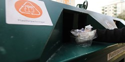 Kärl för plaståtervinning. Foto: Förpacknings- och tidningsinsamlingen (FTI)