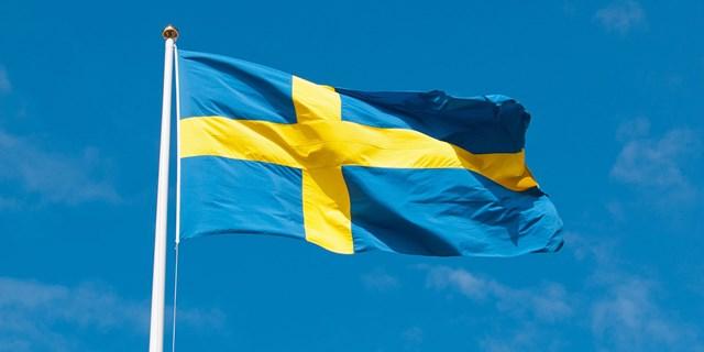 Svensk flagga i vinden