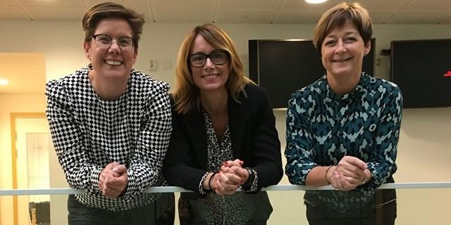 Carina Centrén regionchef för Svenskt Näringsliv Skåne tillsammans med näringslivschef Pernilla Blixt och näringslivsutvecklare Caroline Danielsson.