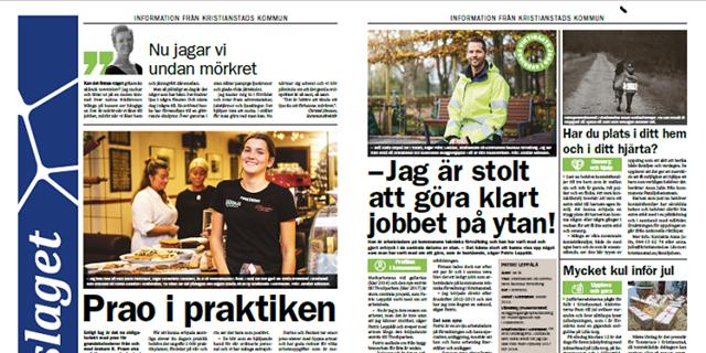 Kopia av en del av Uppslaget i Kristianstadsbladet.