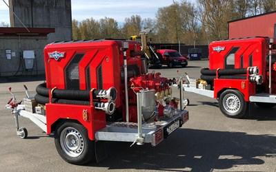 De sex nya motorsprutorna placeras på våra olika brandstationer för att vara en resurs vid skogsbränder.