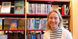 Linda O´Sullivan såg till att sätta Fjälkings skolbibliotek på kartan.