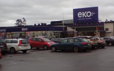 Eko Stormarknads entré.