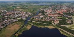 Flygbild över Kristianstad