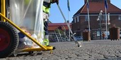En ren stad. Kommunen har gjort riktade satsningar för att hålla staden ren från skräp.
