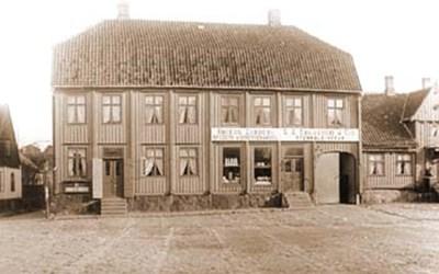 Torget 3, Åhus, omkr. 1900.