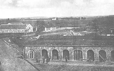 Skjutsstallavägen - Norretullsvägen 9, Kristianstad,- fr. SÖ, senast 1865.