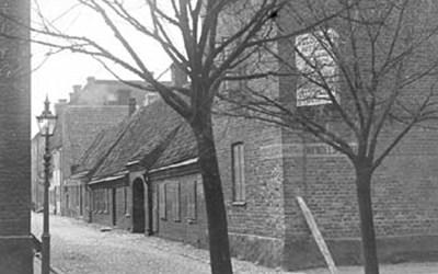 Västra Vallgatan 2 och 4 - Nya Boulevarden 4, Kristianstad, senast omkr. 1896.