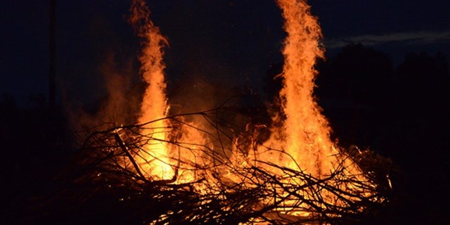 Risken för att eld ska sprida sig i skog och mark är stor just nu. Därför råder eldningsförbud i nordöstra Skåne.