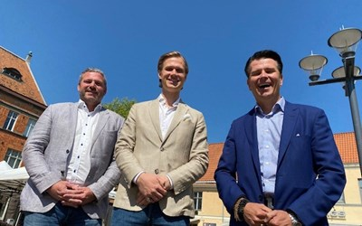 Patrik Hall, regionchef, Simon Hoof, etableringsansvarig samt Peter Hellgren, vd och grundare av Consid, ser fram emot etableringen i Kristianstad. Företaget, som jobbar med IT-tjänster, räknar med att på ett par års sikt ha minst 50 anställda i Kristianstad.